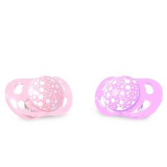 Twistshake® Set da 2 Ciucci in Silicone Pastel Pink and Purple